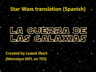 Star Wars translation - Spanish