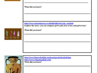 Ancient Greeks - KS2  - ICT/research and geography - What can we find out about the Ancient Greeks