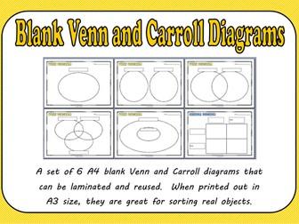Blank Venn and Carroll Diagrams Pack