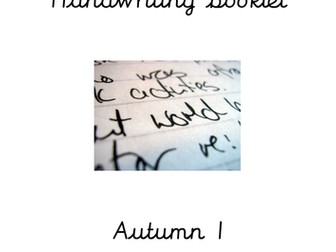 Year 1 Handwriting and Spelling booklet