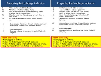 Natural indicators: Can red cabbage be used as an indicator?