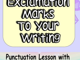 KS1 Exclamation Marks! FUN yet Challenging 4 Activity Complete Lesson. Starter, Extension and Input