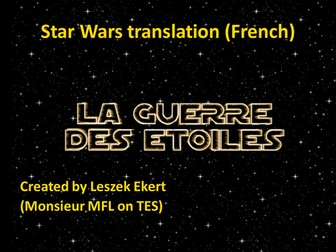 Star Wars translation - French