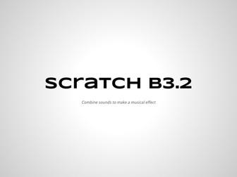 Code Lesson B3-2 Making Music in Scratch
