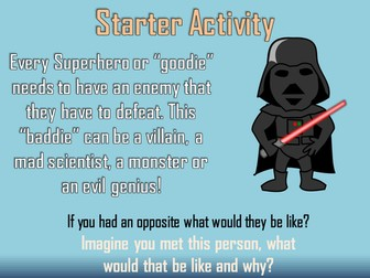 Create Your Own Super Villain Writing Lesson. Creative or Big Writing for Multiple Writing Genres