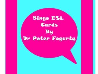 114 ESL Bingo Game Cards