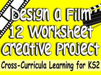 12 Worksheet Design a Hollywood Film Pack. Cross-Curricula Engaging Challenging
