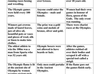 KS2 Ancient Greek Olympics - lesson, resources and extension ideas for Ancient Greece