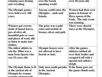 KS2 Olympics Research Lesson & Quiz Greeks Ancient Greeks
