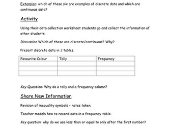 Data Collection Lesson
