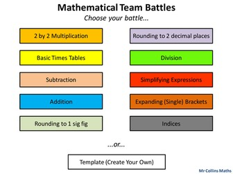 Mathematical Team Battles