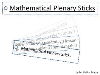 Mathematical Plenary Sticks