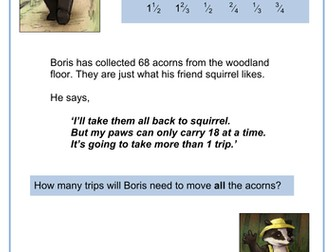 Boris the Lost Badger Numeracy Word Problems