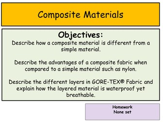 Composite Materials - Nylon and Gore-Tex®