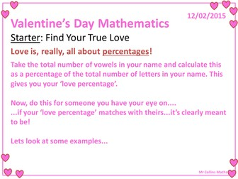 Valentine's Day Mathematics Activities