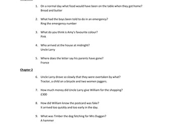 Quiz Questions for The Portal by Andrew Norriss
