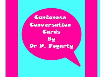 57 Cantonese Setting Cards For Conversation Practice