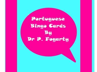 114 Portuguese Bingo Game Cards