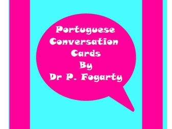 57 Portuguese Setting Cards For Conversation Practice