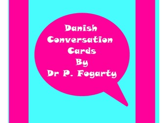 57 Danish Setting Cards For Conversation Practice
