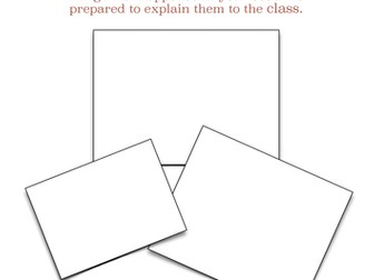 Book Review Activity - Draw Three Pictures