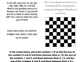 More Maths Group Challenges