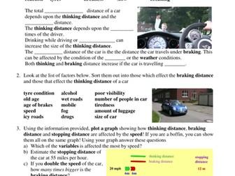 GCSE SCIENCE - THE PHYSICS OF STOPPING DISTANCES