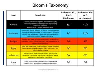 Bloom's Success Criteria