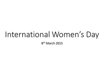 International womens day assembly