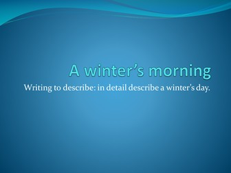 describe winter day Almost all adjective go along with all the nouns for example while we can say a cold winter, we can also suggest a cold person but yes whn it comes to certain.