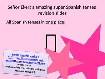 Spanish Tenses Revision Slides