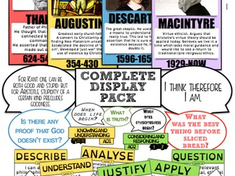 Complete RE/Philosophy Classroom Display Pack