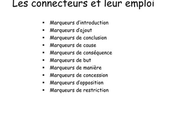 KS5 French  Connectives - Booklet