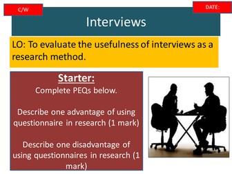 OCR - GCSE - B671 Interviews