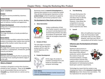 The Marketing Mix - Product