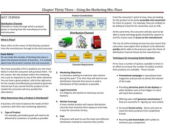 The Marketing Mix - Place