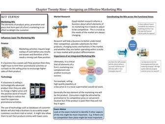 Designing an Effective Marketing Mix