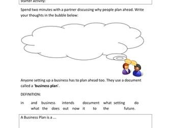 Planning an enterprise - Business plans