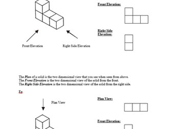 Plans, Elevations and Isometric Drawing