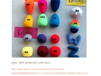 Standard model particles knitting pattern