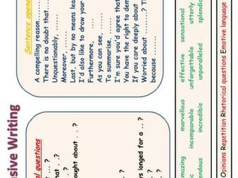 Persuasive Writing Prompt Mat