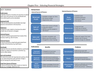 Selecting Financial Strategies