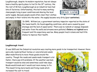 Local History project: Leicester and Loughborough