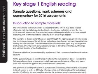 key stage 1 2016 sample reading test