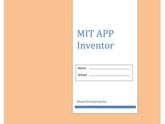 MIT APP Inventor basics