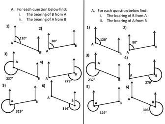 Bearings using parallel lines