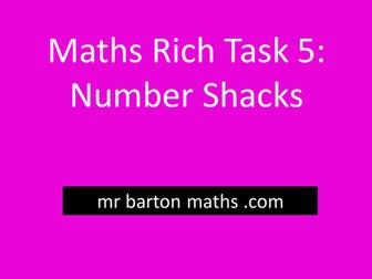 Rich Maths Task 5 - Number Shacks