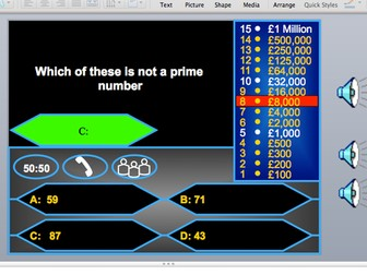GCSE Maths AQA Edexcel Foundation Classic who wants to be a millionaire game