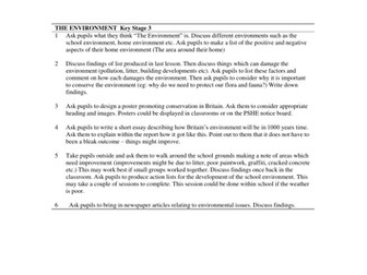 PSHCE Discussion Activities - The Environment. Updated