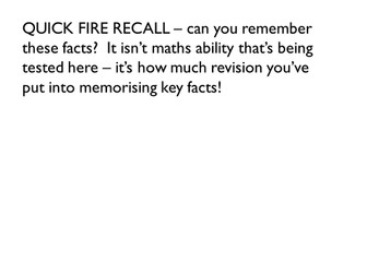 Rapid recall of GCSE Higher Tier facts & formulae PowerPoint